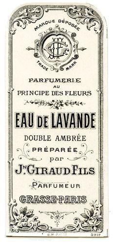 Vintage perfume label ~ Eau de Laveande