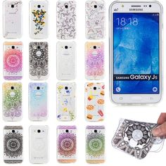 Unicorn Horse Flowers French Fries Transparent TPU Cases Cover for Samsung Galaxy A3 A5 J1 J3 J5 J7 2016 2017 J3 Prime S8 Plus