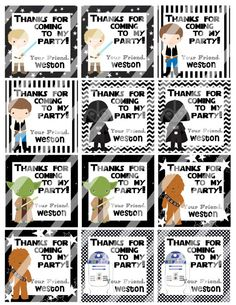 DIY Personalized Star Wars Birthday Favor Hang Tags by susanefird Lego Birthday Party, Star Wars Birthday, Star Wars Party, Birthday Favors, Boy Birthday, Birthday Ideas, Birthday Parties, Lego Mr Freeze, Star Wars Crafts