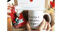 Querida familia humana: ¡Os quiero! #taza #perro #gato #amor #tequiero #pinterest