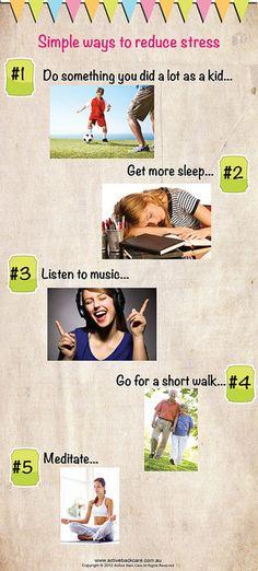 5 simple ways to reduce stress.
