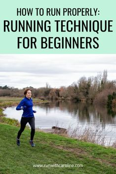 How to run properly - this is a question I often get asked by beginner runners who are looking to improve their running form and technique. Running Drills, Running Workouts, Running Tips, Road Running, Running For Beginners, How To Start Running, How To Run Faster, Core Strength Exercises, Strength Workout