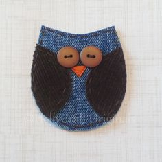 Owl Applique, Owl Scrapbooking Embellishment, Fabric Owl, Owl Embellishment, Scrap Fabric Owl, Scrapbook Owl. $4.00, via Etsy.