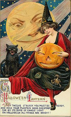 Vintage Halloween Postcards by Suzee Que, via Flickr @Tami Arnold Lane, I just saw your pin and thought of you when I saw this