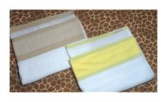 Fralda 0.70x0.70cm com barrado em tecido