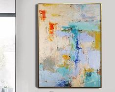 Very Large Abstract Paintings On Canvas,Yellow Abstract Canvas Art Oil Painting,Blue Abstract Art Painting,Modern Living Room Abstract Art Blue Abstract Painting, Abstract Canvas Art, Oil Painting On Canvas, Abstract Paintings, Your Paintings, Beautiful Paintings, Yellow Canvas Art, Art Oil, Etsy