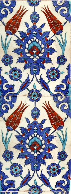 Turkish Tile- I love the design & colors More / picronom. Islamic Patterns, Tile Patterns, Textures Patterns, Print Patterns, Turkish Design, Turkish Art, Turkish Tiles, Portuguese Tiles, Decoupage