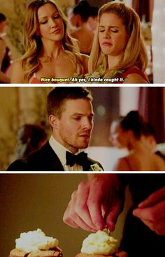 I kind of... caught it. #Olicity #Arrow