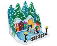 Make it a Cool Christmas with this amazing 3D holiday scene, complete with towering evergreens, village, lamp posts, and skating penguins! Easy tab/slot assembly.