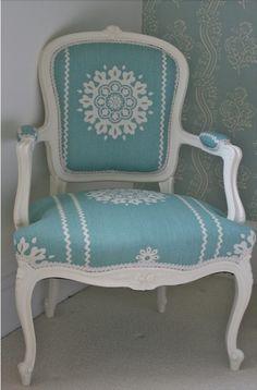 Vintage Chic ♥ elegant 1900s painted chair