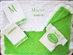 Personalized Irish baby blanket minky by SewoutoftheOrdinary