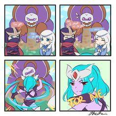 Karina just interrupt both of them 😂 Mobiles, Moba Legends, Pokemon, Mobile Legend Wallpaper, How To Make Comics, I Love You All, Gaming Memes, Hatsune Miku, League Of Legends