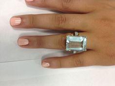 22 ct. Aquamarine Ring For Sale 3
