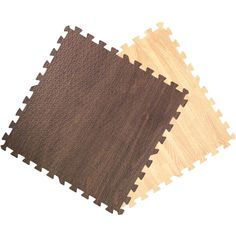 These interlocking wood grain foam puzzle tiles can be easily assembled in minutes. Made from high density, high quality foam and a carpeted surface, these foam tiles are non-toxic, waterproof, impact absorbent and are great for protecting floors.