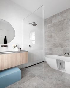 likes, 18 comments, heartlydesignstudio username, The family bathroom (one of three!) behind the heritage facade of the cutest Richmond workers cottage 🙌🏻 featured in beautiful this month. Wet Room Bathroom, Modern Master Bathroom, Family Bathroom, Bathroom Layout, Modern Bathroom Design, Bathroom Interior Design, Bathroom Faucets, Minimalist Small Bathrooms, Grey Bathrooms Designs