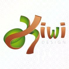 I think this logotype design has a nice effect with the Kiwi peel. They mesh the two different fonts well also by making the one font like an image. E Design, Layout Design, Logo Design, Graphic Design, Juice Logo, Fruit Logo, Logos, Kiwi Ideas, Tutti Frutti