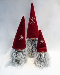 Bearded Tomte with Red Hat - Scandinavian Christmas Gifts & Decor