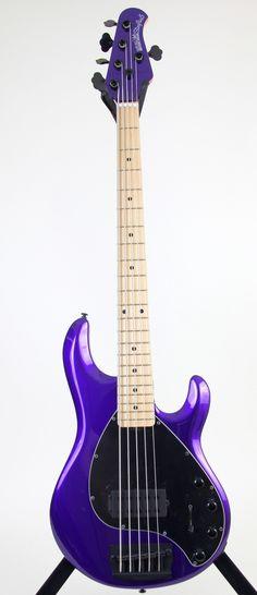 Ernie Ball Music Man Stingray 5 Bass Guitar | Firemist Purple