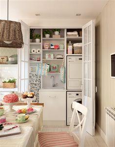 Armario que contiene zona de lavado de la cocina