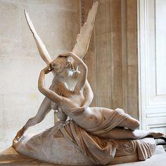 Psyche Revived by Cupid's Kiss - Antonio Canova (Italian), Louvre, Paris