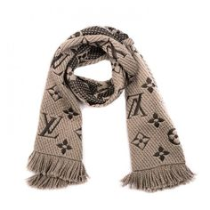 LOUIS VUITTON Wool Silk Logomania Scarf Verone ❤ liked on Polyvore featuring accessories, scarves, louis vuitton scarves, pure silk scarves, louis vuitton shawl, monogrammed scarves and wool scarves