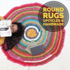 Buy n Support! regram @chindi.in Super soft round rugs now on sale at www.chindi.in!  Each piece is unique upcycled and helps support our craftswomen!