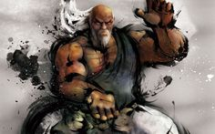View an image titled 'Gouken Art' in our Street Fighter IV art gallery featuring official character designs, concept art, and promo pictures. Ryu Street Fighter, Character Portraits, Character Art, Character Design, Geeks, Samurai, Street Fighter Characters, Mortal Kombat, World Of Warriors