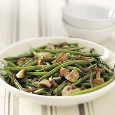Asian Grilled Green Beans. Eating low carb has given me so many ways of preparing green beans. I haven't tried this but I just might!