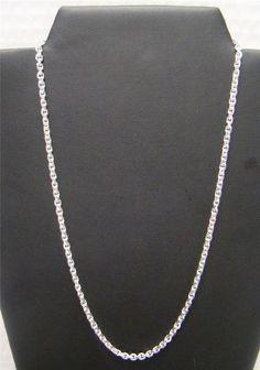 925 Sterling Silver Rhodium-plated Polished 7.7mm Rolo Link Bracelet 7.5