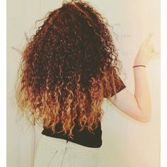 My ombre on my naturally curly hair #ombre #curlyhair #naturalhair