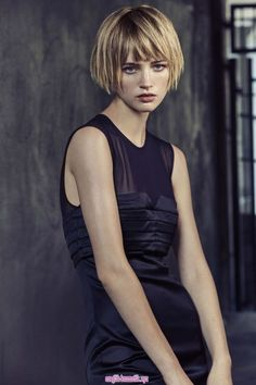 Black Dress, storm clothing - All For Hair Cutes Good Hair Day, Great Hair, Short Bob Hairstyles, Pretty Hairstyles, Short Hair Cuts, Short Hair Styles, Haircut And Color, My Hairstyle, Hair Today