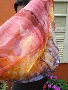 """Estola / Echarpe pintada à mão em tecido toque de seda"""", k - LC0546    Feita exclusivamente para você.  Peça única.    largura: 0,48  comprimento: 2,00    Antes de efetuar sua compra, conheça as regras em """"políticas da loja"""" R$ 38,00"""