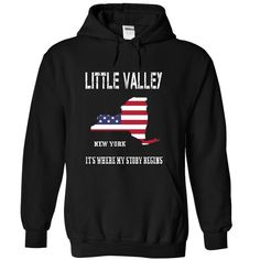 LITTLE VALLEY It's Where My Story Begins T-Shirts, Hoodies. SHOPPING NOW ==► https://www.sunfrog.com/No-Category/LITTLE-VALLEY--Its-Where-My-Story-Begins-7070-Black-19063995-Hoodie.html?id=41382