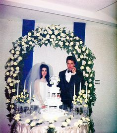 ❝at the end of may we threw a big reception at graceland for all of our friends and relatives —and some fans.  elvis and i wore our wedding clothes, greeted everyone, sipped champagne, and shared cake just as if the party were taking place after the wedding ceremony.  it was so much more comfortable and relaxed than las vegas.❞ —priscilla presley