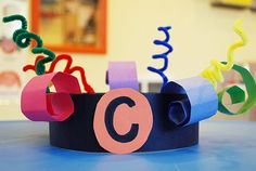C is for colorful, curly, crowns.  This website has great ideas for learning letters and different crafts for throughout the year.