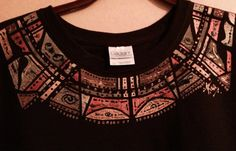 Autumn Delight Handpainted Brown Tshirt TDC by TheaDesignConcepts