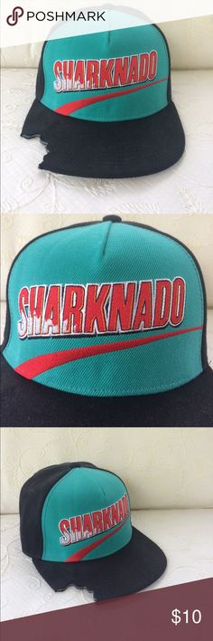 Sharknado hat! Brand new.  Bite mark in visor.  Rock this hat at the beach to show you are fearless! Accessories Hats