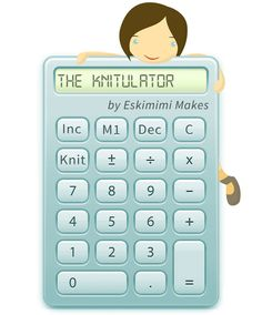Eskimimi's Knitulator knitting increase and decrease calculator
