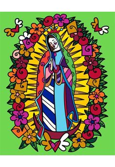 VIRGEN DE GUDALUPE embellished giclée on canvas (unframed) $1100