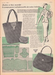 """Today for you my dear readers, I have several lovely images from the March 18, 1956 edition of Le Petit Echo de la Mode.     """"I just love to..."""