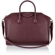 Givenchy Medium Antigona bag in burgundy textured-leather ($2,285) ❤ liked on Polyvore featuring bags, handbags, bolsa, red, burgundy purse, purple handbags, zipper bag, burgundy handbag and red bag