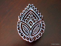 Hand Carved Indian Wood Textile Stamp Block by charancreations, $14.75