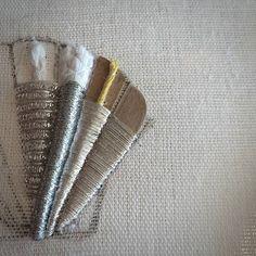 Из чего же, из чего же сделаны наши.....ракушки? Завтра узнают гости моего воркшопа.  #submarina707 #goldwork #embroidery #вышивка #workshop