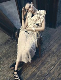 """""""Delicada Armonia"""" Kirsi Pyrhonen by Danilo Giuliani for Marie Claire Spain March 2014 Marie Claire, March 2014, Editorial Fashion, Spring Summer, Summer 2014, Wrap Dress, Stylists, Fashion Photography, Spain"""