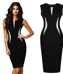Online Shop 2014 Sexy Women Sleeveless Slim Fashion Bodycon Party Evening Pencil Dress|Aliexpress Mobile