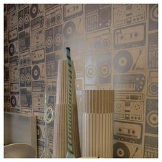 "Analog Nights 15' x 27"" Geometric Wallpaper | Wayfair"