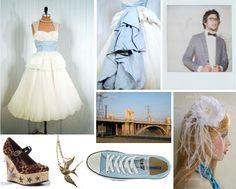 something blue Keep It Simple, Something Blue, Blue Dresses, Tulle, Weddings, Skirts, Image, Fashion, Moda