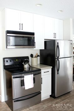 Can You Spot the Ikea in This Kitchen Makeover? | Black ... Por White Kitchen Remodel Ideas on white kitchens with dark floors, white granite ideas, white kitchen lighting ideas, white transitional kitchen ideas, white small kitchen, white patio ideas, white kitchen cabinetry ideas, white glazed cabinet ideas, white landscaping ideas, white galley kitchen with pantry, white on white kitchen inspirations, white tuscan kitchen ideas, white kitchen painting ideas, white contemporary kitchens, white mudroom ideas, white cottage kitchens, white kitchen counter ideas, white kitchen decorating themes, great kitchen remodeling ideas, white outdoor kitchen ideas,