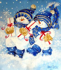 Holiday Delivery by Jamie Carter ~ Christmas ~ snowmen