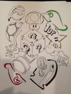This is a Mario drawing I created. And yes I can sell prints of it! If interested let me know!